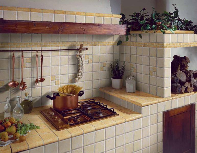 Как сделать фартук на кухне из кирпича